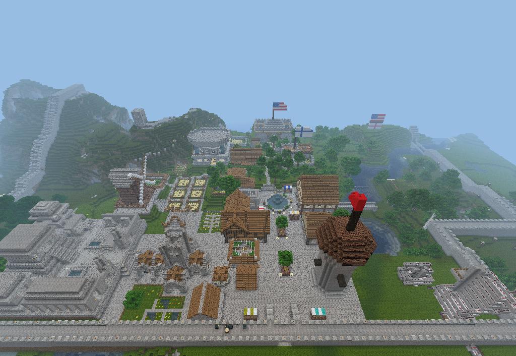 Stand des derzeitigen Dorfes