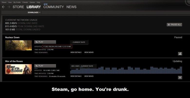 Steam Fail | www.funnyjunk.com