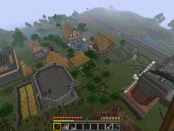 Minecraft Dorf wächst
