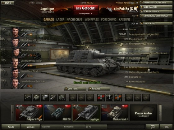 World of Tanks ( Jadgtiger standard )